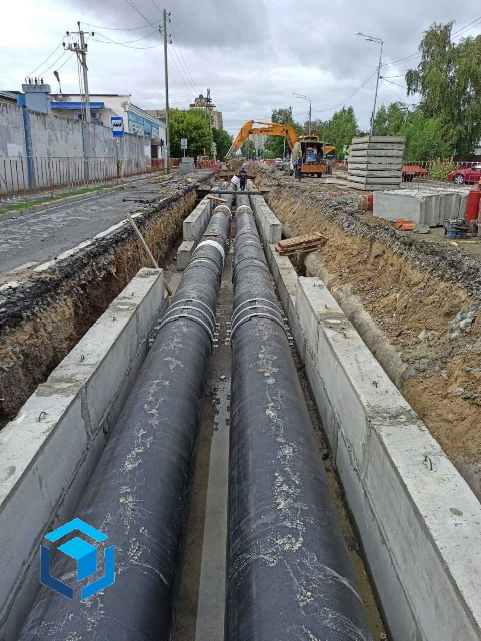 Трубы для прокладки магистралей ППУ